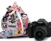 Vintage camera dSLR camera Drop in Bag Pouch Gift for Photographer NiKon CaNon Sony