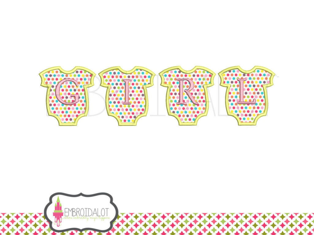 Baby girl applique embroidery designs spelt