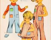 Simplicity 7041 jumper overall children Dress Pattern