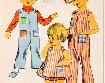 Simplicity 7041 jumper overall children Dress Pattern