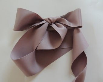 "Taupe Mauve Blush Dusty Rose 2"" 50mm Matte Double Sided Ribbon Wedding Gown Sash"