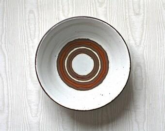 Vintage Stoneware Bowl Stonehenge Earth Midwinter Brown Circles England
