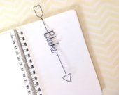 Personalized Bookmark Arrow Shaped, Personalized Wire Bookmark Arrow shaped