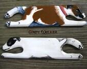 """Custom Dog Portrait - 6"""" Wild Weaving Shuttle for Shaft Card Tablet Inkle Band Backstrap Loom"""
