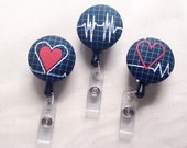 Nurse ID Badge Holder, Cardiac Nurse, Nursing, Gift Idea, EKG, Doctor Badge Holder