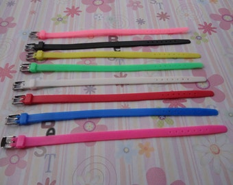 SALE 100pcs mix color 8 inches rubber bracelet