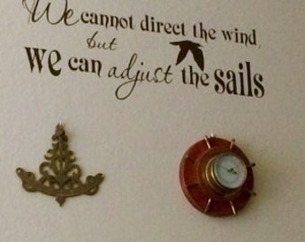 We cannot direct the wind but we can adjust the sails - Wall Vinyl Decal