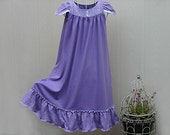 FREE SHIPPING /Size 6/7-girls  **Last One**  100% Cotton Knit, Full Length  //Ready to Ship//Quality Mid-Heavy Knit (11oz)