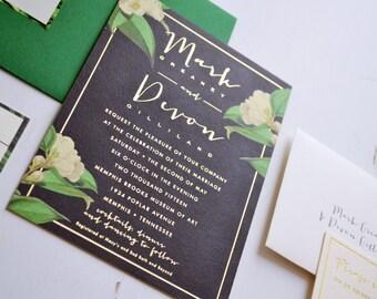 Custom Wedding Invitation Design - JPress Designs, letterpress, custom wedding, unique design, one of a kind wedding, bespoke, original