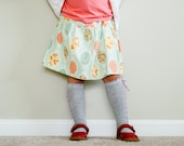 Girls's Skirt. Little Girl's Skirt. Drop waist skirt. Kids clothes. Girl Skirt. School clothes. Light blue