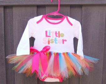Little Sister Tutu Dress Ready To Ship Size 6 Months