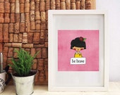 Cute Girl Nursery Art Children's decor Girl Baby Printable Art kids wall art kids room artwork Home Decor Wall Art