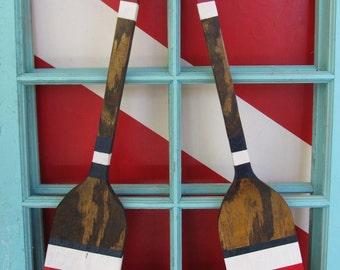 Small oar set. Custom Oars. Reclaimed Wood Nautical Decor. Beach Decor. Lake Decor. Custom Paddles. Made to Order
