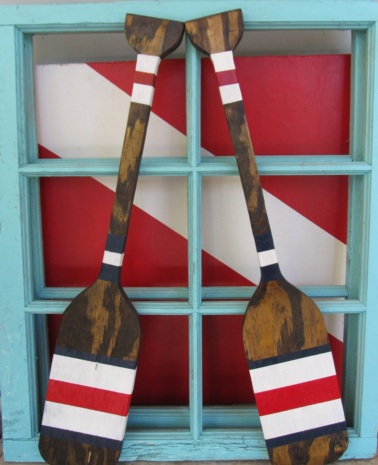 Nautical Wall Decor Oars: Small Oar Set. Custom Oars. Reclaimed Wood Nautical Decor
