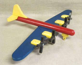 Toy Airplane , Wooden Plane , Handmade , Airplane , Air Travel , Wooden Toys , Transportation , Travel , Handmade Toys , Vintage Toys , Air