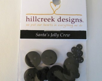 Santa'sJolly Crew Button Pack from Hillcreek Designs B136-QDD