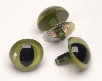 9mm Green Cat Eyes Animal Doll Safety Eyes 6 Pair