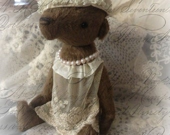 sewing pattern pdf e-pattern for handmade viscose Mohair artist bear vintage style by Olive Grove Primitives