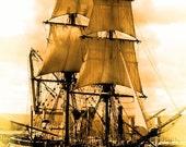 Antique Pirate Ship Print
