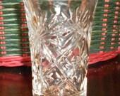 "Vintage Anchor Hocking Juice Glass ""Oatmeal"" Pineapple Pattern, 1940's Tumbler"
