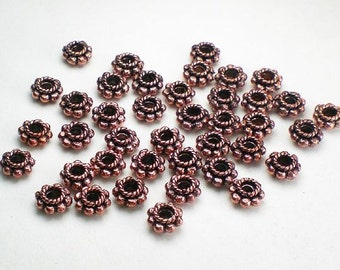 6mm Genuine Copper Beads Solid Copper Spacer Beads 40 pcs. GC-320