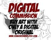 Digital art commission by Boo Rudetoons superhero comic fantasy SciFi erotic