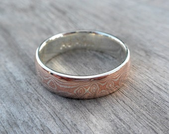 Mokume Gane Ring - 6mm's wide