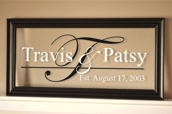 Personalized Picture Frame With Family Name Quote Family: Personalized Picture Frame Family Name Sign Glass Sign 11x21