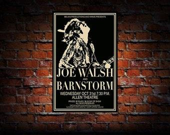 Joe Walsh And Barnstorm 1973 Cleveland Concert Poster