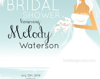 Bridal Shower Invitation Design Printable- Wedding Dress