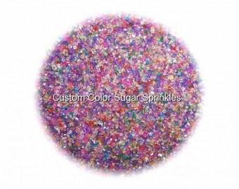 RAINBOW SANDING SUGAR  Edible Sprinkles Cake,Cakepops, Cookie Decorations Confetti