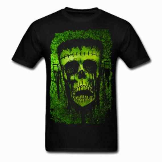 Frankenstein's Monster Skull T shirt