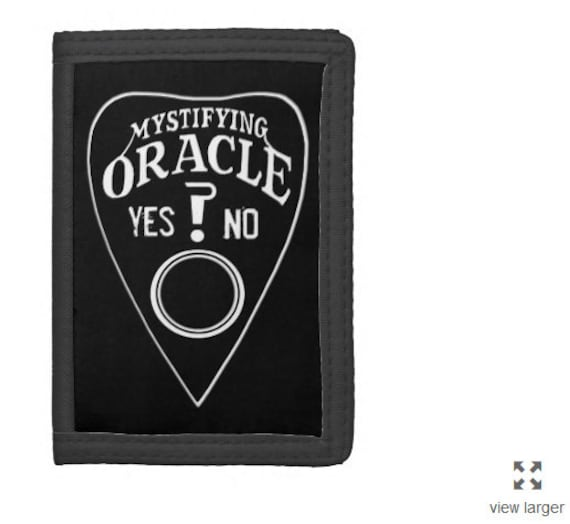 Mystifying Oracle trifold wallet black