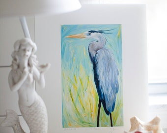 "Great Blue Heron ""Duchess"" - 16x20 Signed Limited Edition by Deborah Cofer"