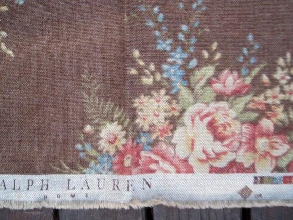 ralph lauren lin d ameublement fleuri tissu 4 1 2 pieds chez vintagegoodthings sur etsy studio. Black Bedroom Furniture Sets. Home Design Ideas