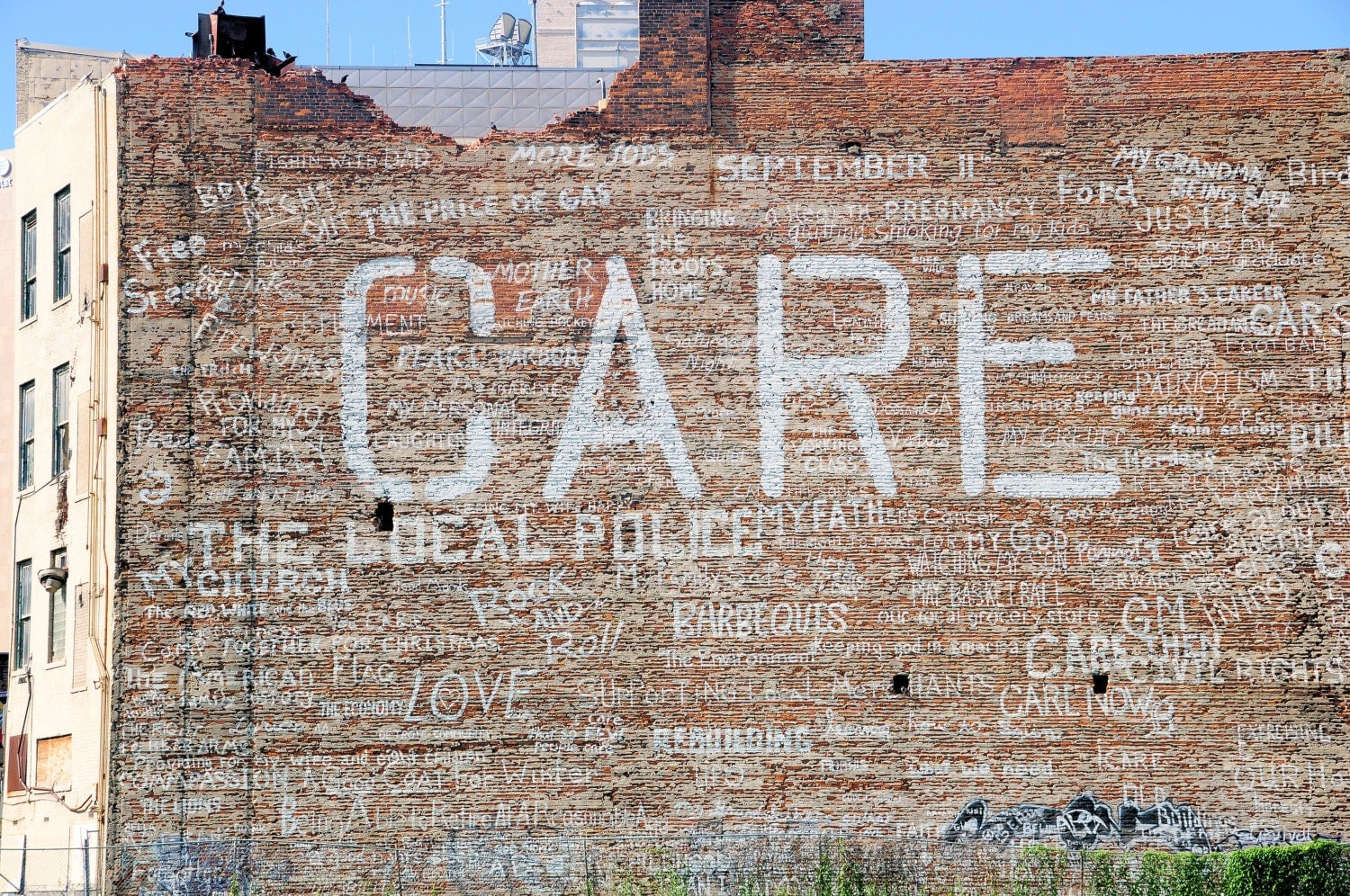 Care detroit mural photography print by mpoirierphotography for Enjoy detroit mural