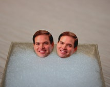 Marco Rubio Stud Earrings Political Jewelry President 2016 Election