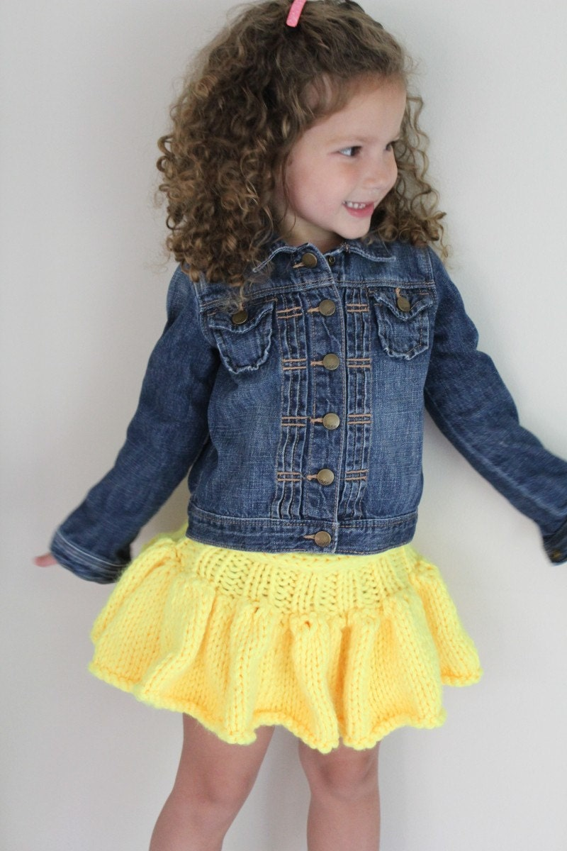 Skirt KNITTING Pattern Girls Tutu Skirt baby by theknittingniche