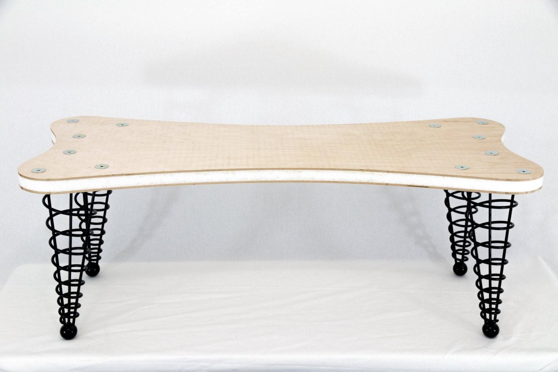 Un Upholstered Modern Bench Kit Handmade Original Design