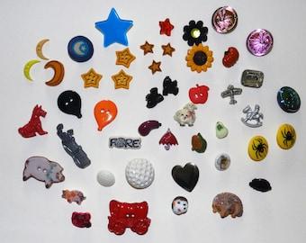 Large assortment of various craft buttons (40+ buttons)
