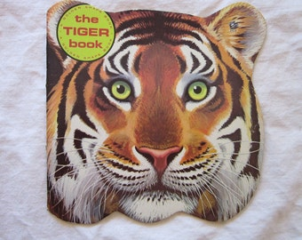 vintage childrens' book - The TIGER BOOK - a Golden Shape Book - circa 1965