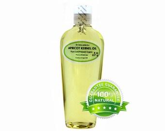 8 OZ Apricot Kernel Oil 100% Pure Organic Cold Pressed
