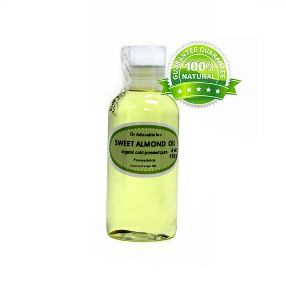 4 oz Sweet Almond Oil Pure Organic Cold Pressed