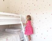Vinyl Wall Sticker Decal Art - Mini Pink Ombre Confetti Dots