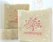 WHITE DOVE soap - White floral bouquet of roses and lily of the valley- hp by Bonny Bubbles