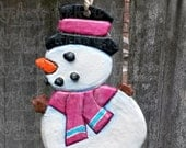 OOAK - Snowman Ornament 50 PERCENT is Donated to St. Jude's