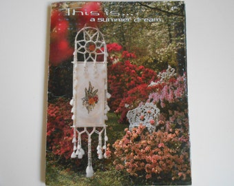 This Is A Summer Dream  by Annie Designs Trifold with six cross stitch patterns Summer Bring me Flowers