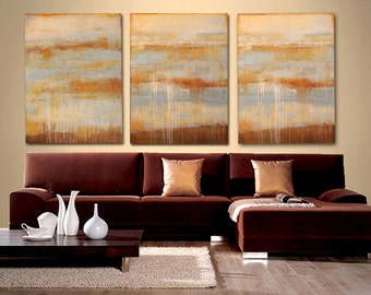 Abstract paintings- Large Paintings, acrylic Original Landscape Ready To Hang, Acrylic painting by Erin Ashley