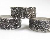 Sterling Silver Ring, Paisley Ring, Sterling Silver Paisley Ring, Sterling Silver Jewelry, Ring Band, Boho Ring, Handmade Ring