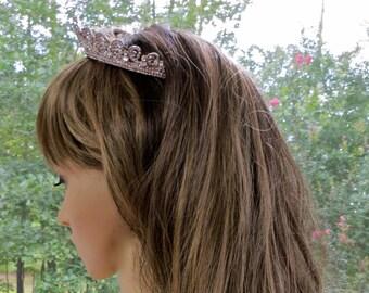 Wedding Crown Headpiece, Wedding Crown Tiara,  Wedding Crown Headband